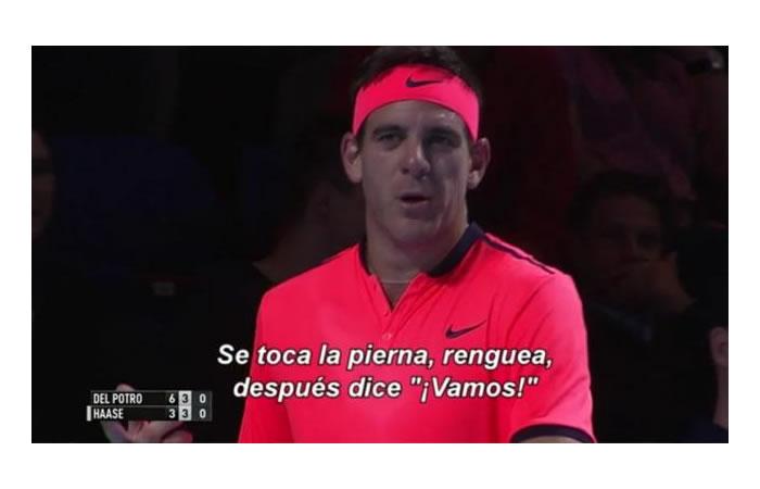 Youtube: Del Potro no soporta y dice esto que ya es viral