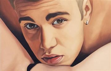 Artista recrea a Justin Bieber y a Brad Pitt practicando sexo oral