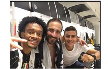 Cuadrado y el espectacular gesto defensivo