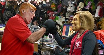 """""""Trump da miedo"""" fue el lema de un desfile de Halloween"""