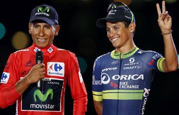 Nairo Quintana y Esteban Chaves terminaron en esta posición en la UCI