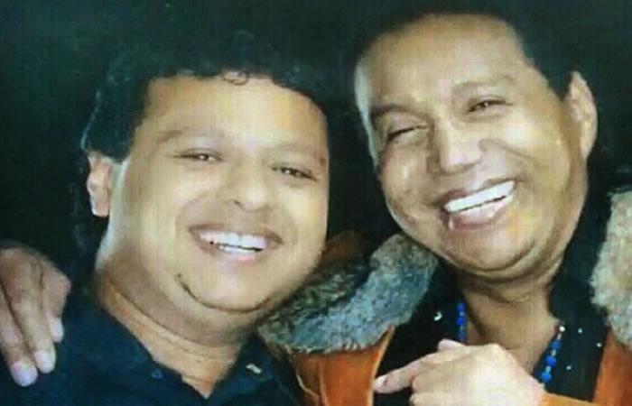 Rafael Santos y Diomedes Díaz Foto: Instagram