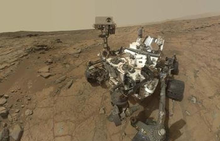 Meteorito metálico es encontrado en el planeta rojo. Foto: EFE