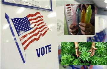 Estados Unidos también votará por el uso de condón y marihuana