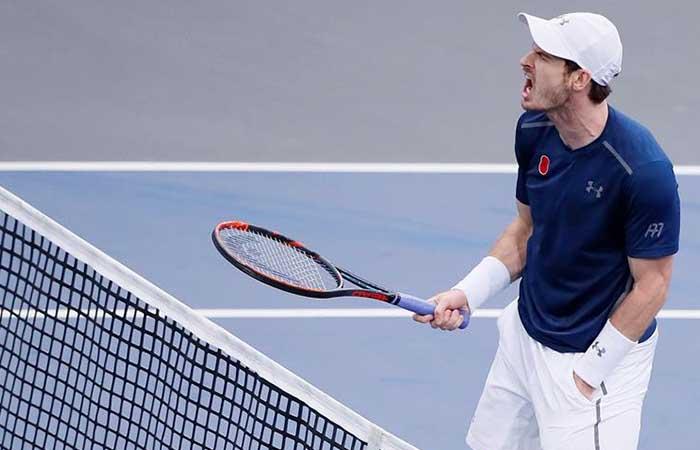 Andy Murray luce que es el N°1 pero sufrió para demostrarlo