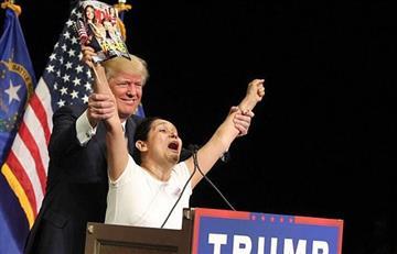 Donald Trump y la colombiana que lo apoya
