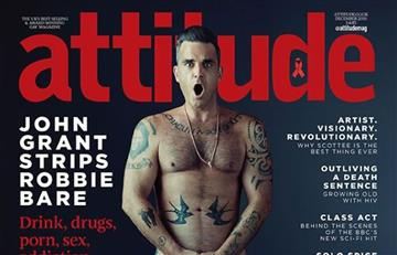 Robbie Williams se desnuda para revista gay