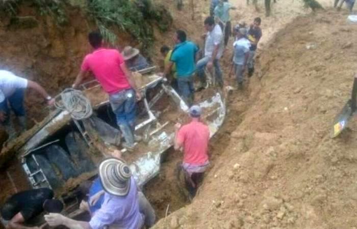 Sube el número muertos por deslizamiento en el Cauca
