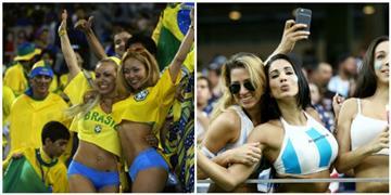 Argentina vs Brasil la sexy batalla de hinchas