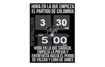 Los mejores memes del partido Colombia vs Chile