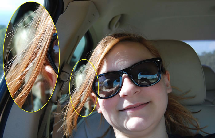 Fantasma aparece en el carro de una familia. Foto: Twitter