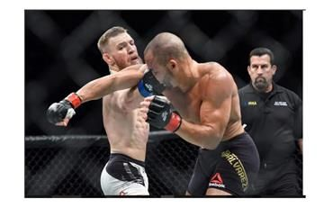 Conor McGregor le propina este tremendo KO a Eddie Álvarez