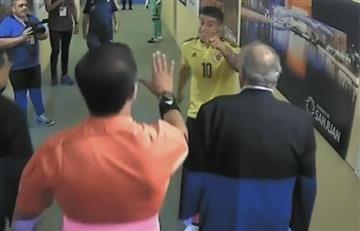 James Rodríguez y su 'agarrón' con el árbitro Roddy Zambrano