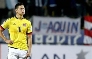 James Rodríguez enfadó a la selección de Ecuador por un comentario