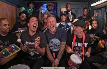 "Metallica interpreta ""Enter Sandman"" con instrumentos de juguete"