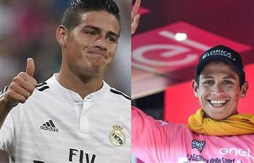James Rodríguez es retado por Esteban Chaves