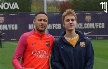 Justin Bieber se coló en el entretenimiento del Barcelona