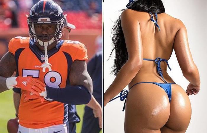 Modelo le pide 2 millones de dólares a jugador de NFL por vídeo sexual