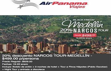 Medellín: Aerolínea panameña ofrecía 'narco tour'