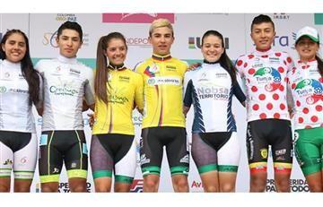 El inédito hecho que se registró en el ciclismo colombiano