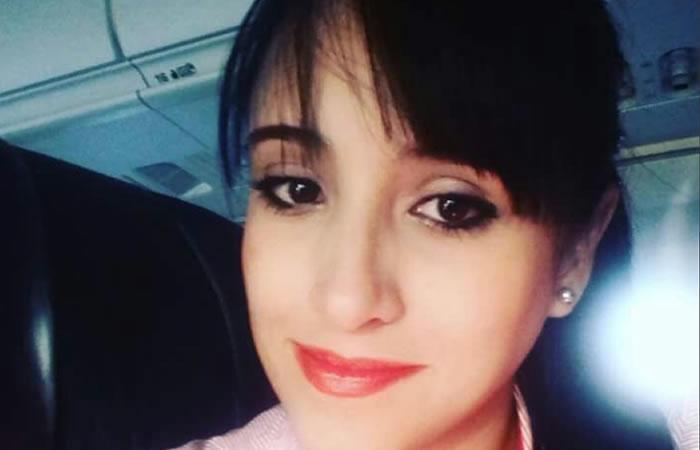 Ximena Suárez, azafata. Foto: Twitter
