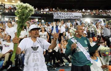 En fotos: Lo que no se vio del homenaje a Chapecoense en Medellín
