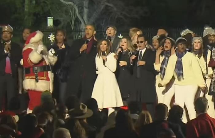 Barack Obama y Marc Anthony cantan juntos para Navidad