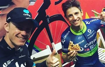Esteban Chaves se enfrenta a Chris Froome