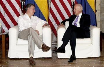 Juan M. Santos y el vice presidente de EE.UU. celebraron la paz con las Farc