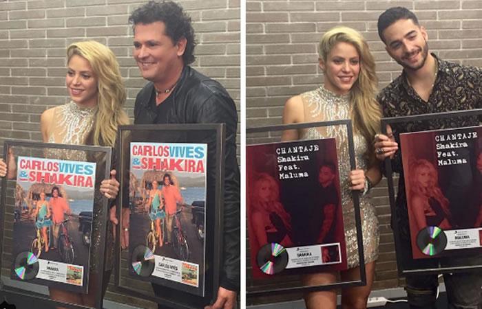 Shakira, Carlos Vives y Maluma. Foto: Instagram