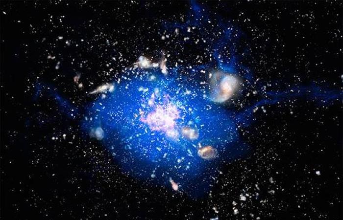 Científicos: Las supergalaxias emergen de océanos cósmicos