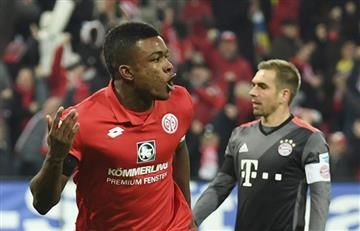 Jhon Córdoba anotó contra el Bayern Munich