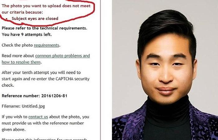 Facebook: Rechazan pasaporte de asiático por sus ojos