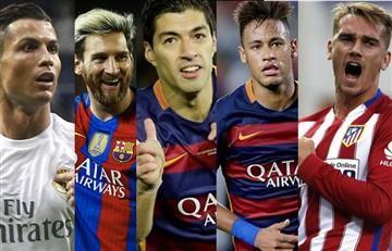 Cristiano, Messi, Suárez, Neymar y Griezmann luchan por el Balón de Oro