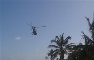 Continúa búsqueda de ocupante de helicóptero de la Armada accidentado