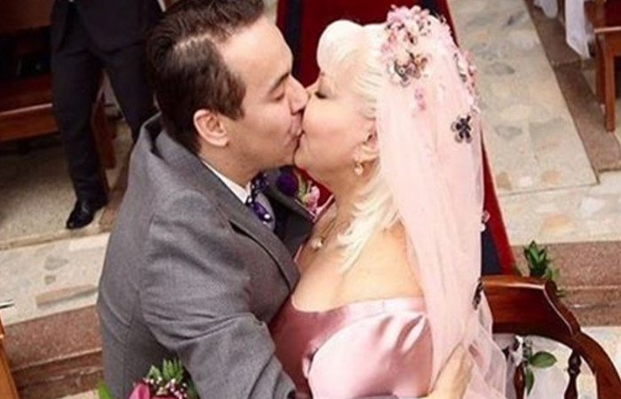 La 'Gorda' Fabiola y 'Polilla' se casaron por la iglesia Foto: Instagram