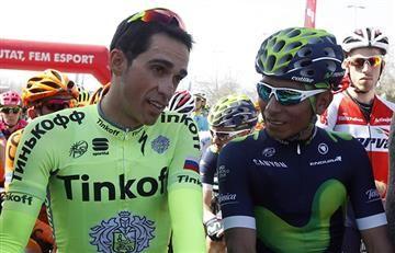 Alberto Contador tiene en la mira a Nairo Quintana