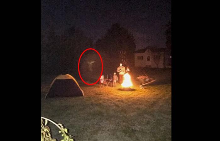 Fantasma en forma de 'Ángel' aparece cerca a un niño