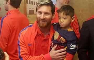 Lionel Messi y el niño afgano por fin se conocieron