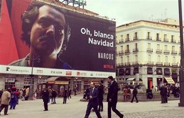 Colombia pidió quitar enorme afiche de la serie 'Narcos' en España