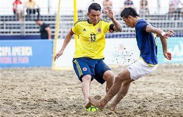 Debut triunfal de Colombia en la Copa América de fútbol playa