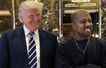 Donald Trump es visitado por el rapero Kanye West