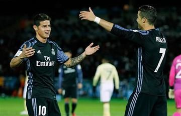 James Rodríguez hace que Cristiano Ronaldo anote su gol 500