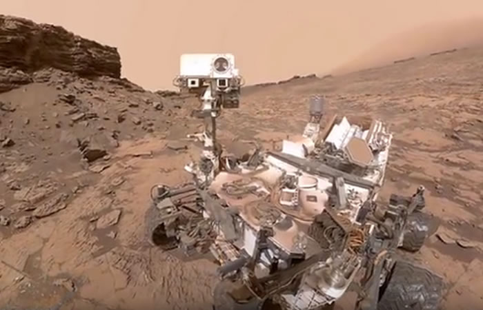 Robot Curiosity de la NASA. Foto:Youtube