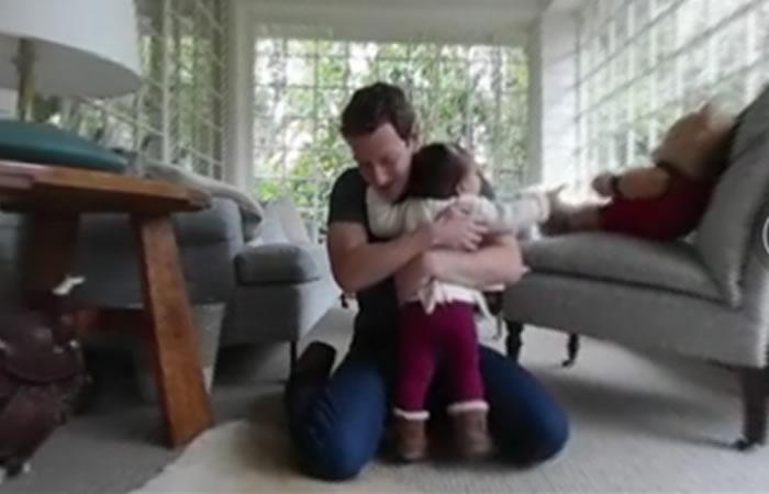 Mark Zuckerberg y su hija. Foto: Facebook