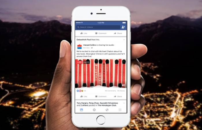 Facebook Live incorpora las transmisiones de solo audio