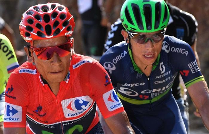 Nairo Quintana y Esteban Chaves en los mejores momentos del ciclismo en 2016