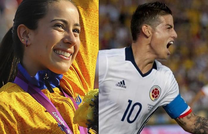Mariana Pajón supera increíblemente a James Rodríguez en esto