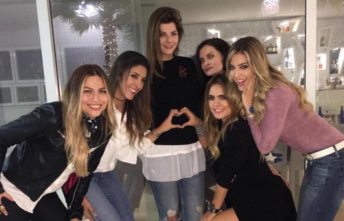 Carolina Cruz: Así le celebran sus amigas su embarazo