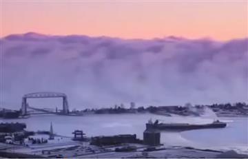 Estados Unidos: Captan impresionante muro de niebla